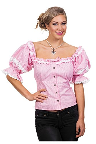 Roze blouse Oktoberfest voor vrouw