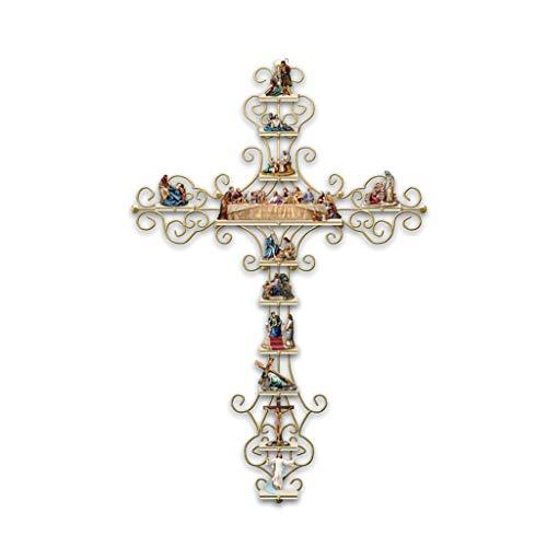 PHILSP Etiqueta de la Pared La Vida de Cristo Cruz Etiqueta de la Pared Colección Pantalla DIY Calcomanía Decoración 1