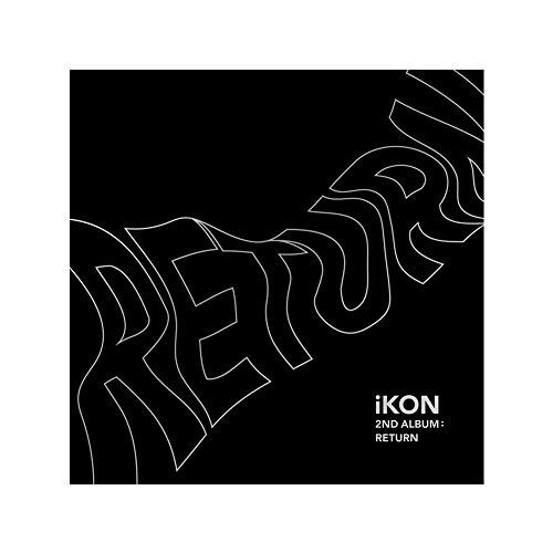 iKON 2nd Album: Return CD + PHOTOBOOK + Lyric Book + 8 Postcards + Photocard + Selfie Photocard + Photo Film + Sticker + Poster BLACK Ver. iKON (Artist) Format: MP3 CD