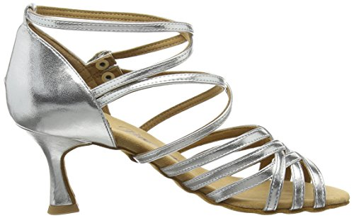 Diamant Diamant Latein Damen Tanzschuhe – Standard Latein Silber 108-087-013 - 6
