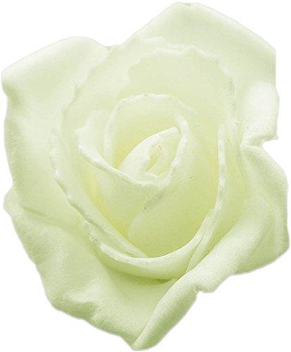 mixed24 100 St. 5cm Rosenköpfe Schaumrosen Foamrosen Blumen Rosa Weiß Creme Rot Kunstrosen (Creme)