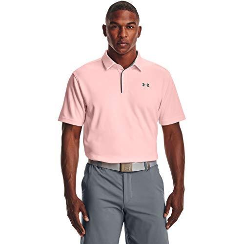 Under Armour Tech Polo de golf, color gris oscuro, grande