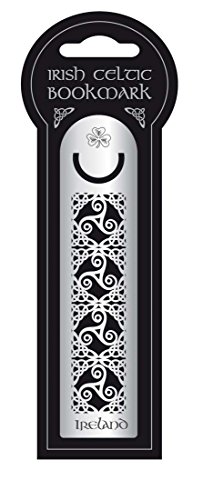 Irish Metal Bookmark With Celtic Knotwork, Ireland & Spiral Design