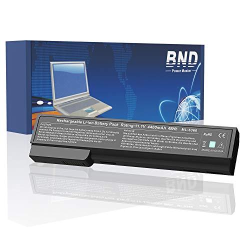 BND 628668-001 Laptop Battery Compatible with HP EliteBook 8460P 8470P 8560P 8570P;ProBook 6470B 6570B 6460B 6560B,fits P/N CC06/QK642AA/628666-001/HSTNN-F08C/HSTNN-LB2H-[4400mAh/49Wh Li-ion]