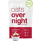 Oats Overnight - Strawberries & Cream (8 Pack) High Protein, Low Sugar Meal Replacement Breakfast...