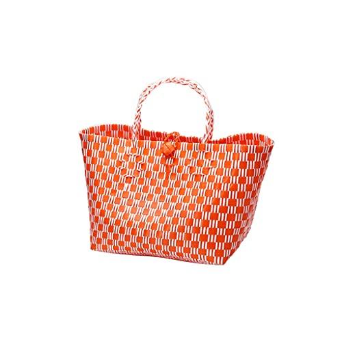 cesta de la compra Cesta de la compra de la mano de la tela escocesa, Cesta de picnic al aire libre, Cesta de picnic al aire libre, Cesta de almacenamiento de juguetes para niños Cesta de comida reuti