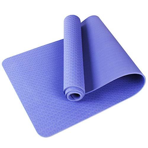 Home Gyms Yoga Mat Xn8 Non Esercizio Slittamento Yoga Mat Thick-Carry-Bag-Pilates-Fitness (Color : Purple)