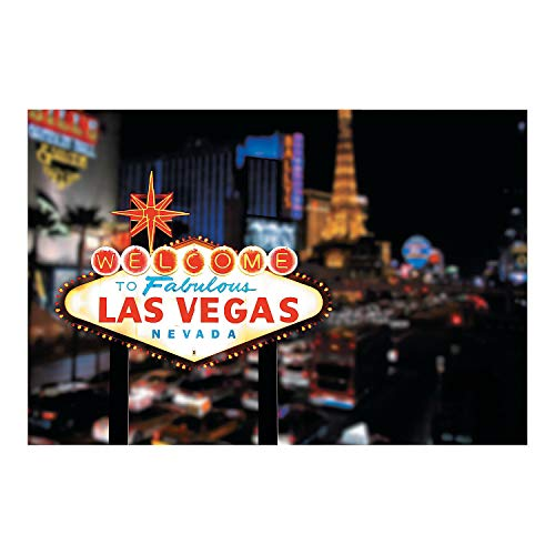 Welcome To Las Vegas Scene Casino Backdrop Banner Decoration Photo Booth (3pcs)