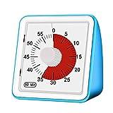 GGHKDD Temporizador Analógico Visual, Reloj de Cuenta Atrás de 60 Minutos, Silencio, Herramienta de Gestión Del Tiempo para Niños Y Adultos