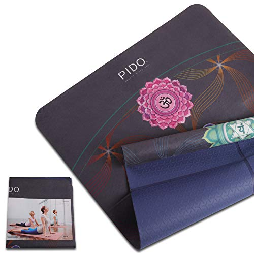 WWWW Suede Hot Yoga Mat Non Slip Eco Friendly 72 x 27 Inch,Thick 1/12inch Fitness Exercise Mat for Pilates,Gym Home or Workout Mat