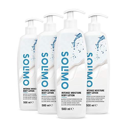 Marca Amazon - Solimo - Loción hidratante intensiva con complejo hidratante (4x500ml)