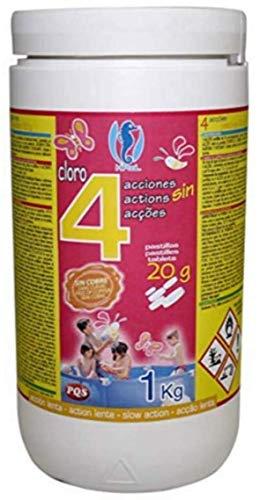PQS Cloro EN Pastillas 4 ACCIONES 20 Gramos DE 1 KG