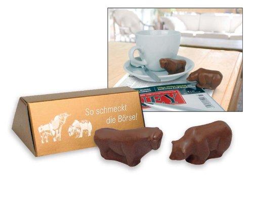 Börsen-Pralinés Bulle und Bär