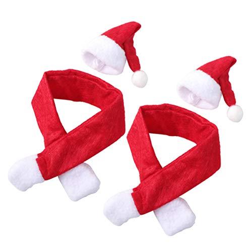 Wakauto 6 Set Weihnachten Weinflasche Abdeckung Weihnachten Weinmütze Und Schal Wiederverwendbar Dekorative Weinflasche Tasche Champagnerhalter Weihnachtsdekor für Home Party Küchentisch