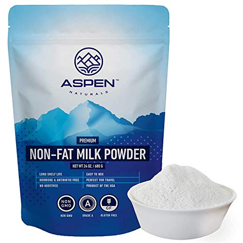 ASPEN NATURALS NonFat Milk Powder - Non-GMO for Adults and Children, 24 oz. - Fat Free Dry Milk Powder with Protein and Calcium - Great for Baking