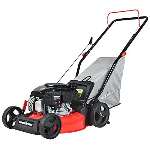 PowerSmart Push Lawn Mower Gas Powered - 17 Inch, 127CC 4-Stroke Engine, 5...