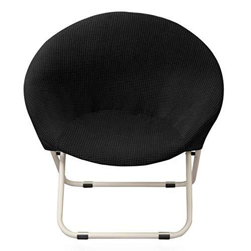 BANGSUN Funda para silla de platillo redondo, elástica, respaldo alto, jacquard
