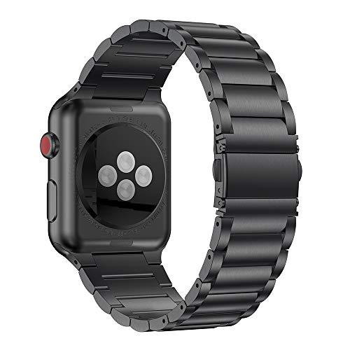 ANBEST Kompatibel mit Apple Watch 5 Armband 42mm 44mm, Klassisches Verstellbares Ersatzarmband für alle Versionen der iWatch Serie 5/4/3/2/1 Smart Watch