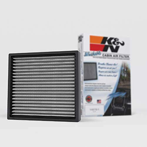 K&N Premium Cabin Air Filter: High Performance, Washable, Helps Protect against Viruses and Germs: Designed For Select 2000-2019 Toyota/Subaru/Land Rover/Jaguar/Lexus/Scion Vehicle Models, VF2000