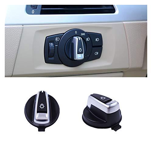MeiZi Faro Lámpara Interruptor Interruptor Botón Tapa Cap Fit para BMW 1 3 Series E90 E91 X1 E84 E82 E88 318 320 325 330 335 (Color : 1PC Switch Cap)
