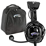 Rugged Air RA900-BUNDLE General Aviation Pilot Headset Includes Headset Bag, Gel Ear Seals and Cloth Ear Covers - Featuring Stereo/Mono Switch with GA Dual Plugs and MP3 Music Input