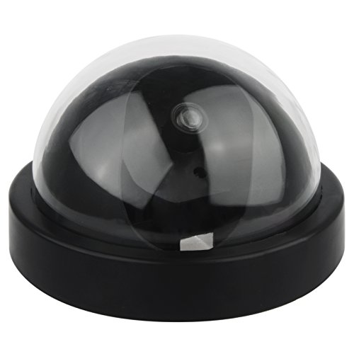 DEFEWAY Dummy Fake Security Surveillance Dome Camera with Flashing Red LED Light, Wireless Simulated Cameras for Home Security