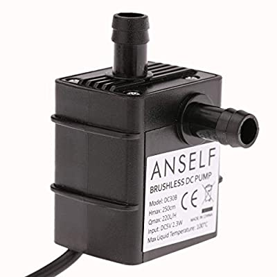 Anself Pompe Submersible de Fountain Aquarium Brushless en Circulation