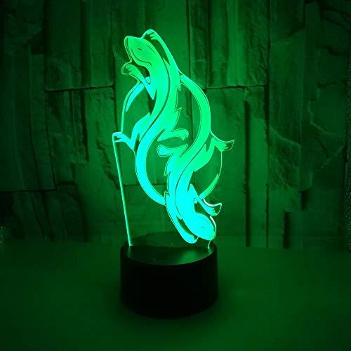 Bunte kleine Nachtlichter der Eidechse beleuchtet bunte Noten-Fernbedienung 3d geführtes Nachtlicht elektronische Gerät-Neuheit scherzt Lampe