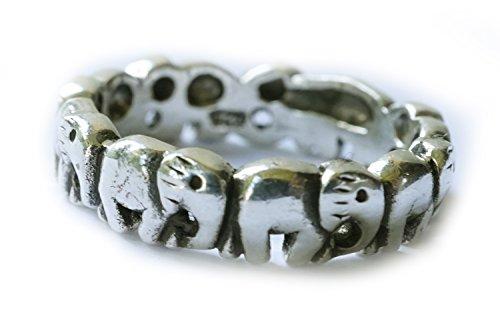 Ring Elefant, 925 Sterling Silber, Gr. 58/60 – Esoterik – Yoga – Spiritualität – Tierkreiszeichen – Krafttier - Energie