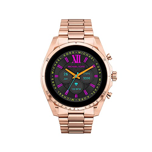 Michael Kors Womens Digital Touchscreen Uhr mit Stainless Steel Armband MKT5133