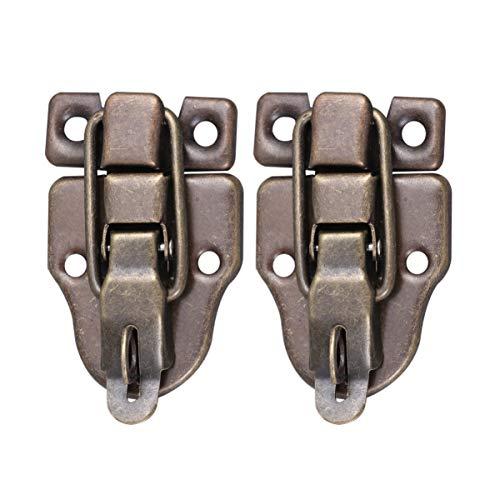 UPKOCH - Juego de 2 cierres de sujeción para armarios y cajones de herramientas (bronce)