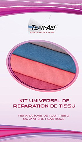 Kit universel de réparation instantanée et sans colle de tissus (coton, nylon, etc.) et des articles en PVC/vinyle ou enduits de PVC ou de vinyle