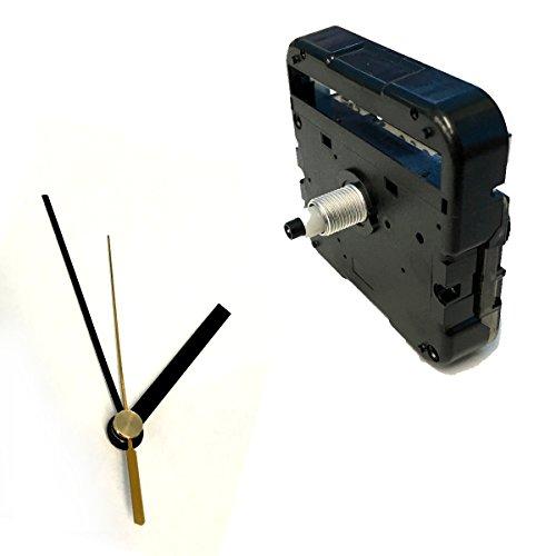 手作り時計用ムーブメント 時計シャフト & 針セット (静かなスイープ式ミドルシャフト, 棒型・黒Q-9)