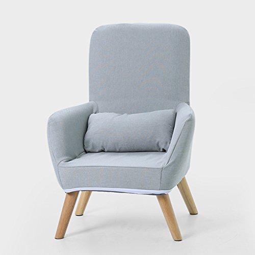 Puffs pera Sofá Individual Silla de Lactancia Silla de Respaldo del sillón Taburete de alimentación Altura del Dormitorio 80cm (Color : Gris)