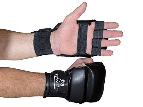 DanRho Ju Jutsu Handschuhe blau-rot-weiß-schwarz