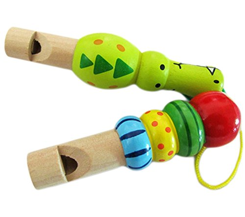 TREESTAR - 1 peluche de madera para niños para aprender música con talento de ritmo, silbato de trompeta, juguete para bebé, arcoíris, madera, colorido, 8*3*1.4cm