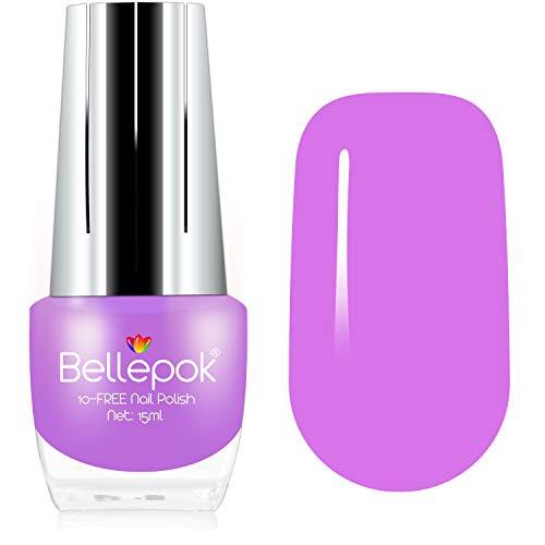 Esmalte de uñas natural sin 10 fórmula ecológica, color lila pastel