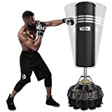 Dripex Free Standing Punch Bag for Adult & Youth, 5.8 FT Boxing Bag with ABS Base and 18 Suction Cups, Heavy Punching Bag for Boxing/Kickboxing/Taekwondo/Muay Thai Training