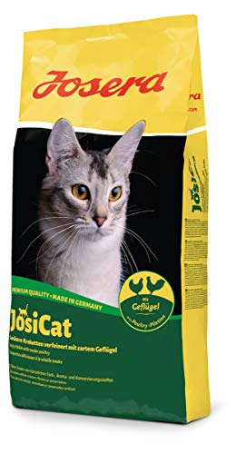 JosiCat Crunchy Poultry, Premium Trockenfutter für ausgewachsene Katzen, Katzenfutter, powered by JOSERA, 1er Pack (1 x 10 kg)