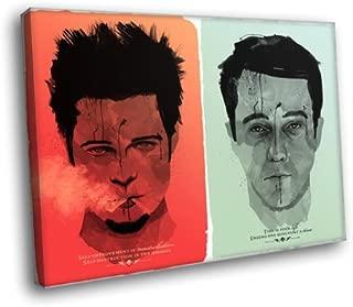 HD7708 Fight Club Tyler Durden Art Movie 16x12 FRAMED CANVAS PRINT