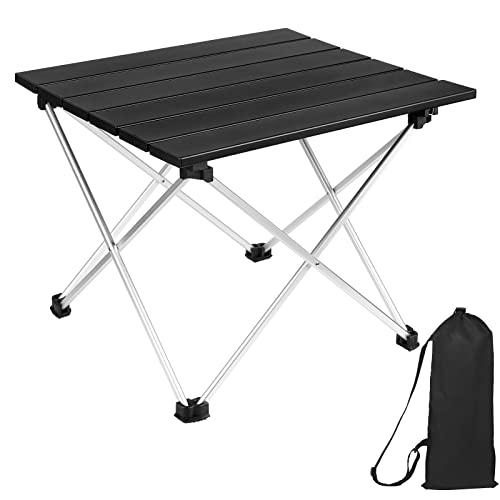 mreechan Mesa de Camping, Mesa de Camping Plegable de Aluminio Liviana portátil con Bolsa de Transporte, Mesa al Aire...