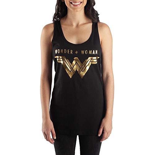 DC Comics Wonder Woman Juniors' Racerback Tank Top-X-Large