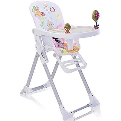 Star Ibaby - Trona de bebés con juguetes Pretty - Doble bandeja, reposapies regulable.