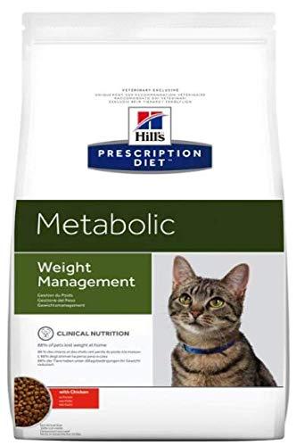 Hills Prescription Diet Metabolic Katzenfutter zur Gewichtsreduktion, Huhn, Trockenfutter, 1,5 kg Beutel, Gewichtsverlust- und Pflege-Nahrung