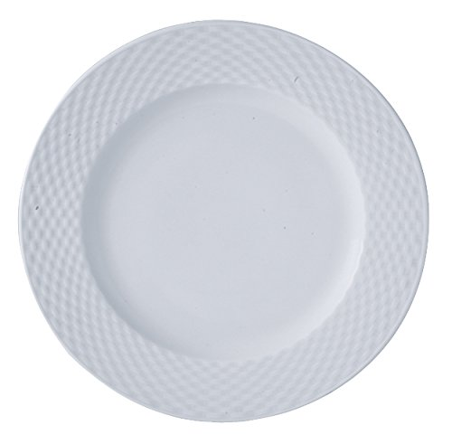 LOT DE 4 ASSIETTE PLATE 27,5CM EN PORCELAINE BLANCHE POLO
