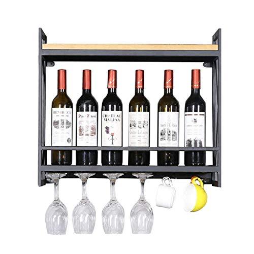 FYHH-JZHY Soporte para Botella De Vino Montado En La Pared De 60 Cm, Soporte para Botella De Vino para Bar/Pub, Soporte para Botella De Vino, Estante De Almacenamiento De Estilo Vintage