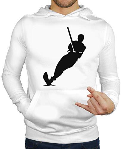 tostadora - Hoodie Wasserskifahrer - Manner Weiß M