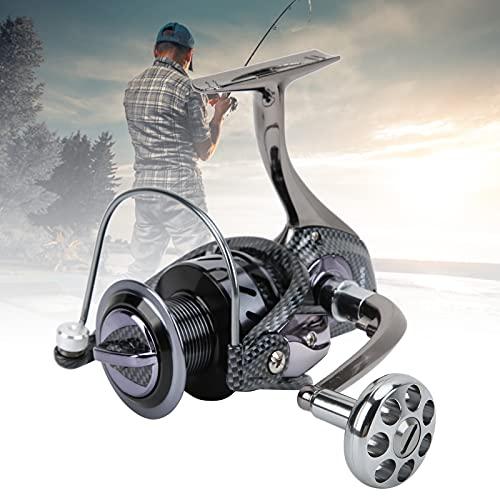 FOLOSAFENAR Rueda de Pesca, Conveniente Carrete Giratorio de oxidación de Dos Colores Diseño Plegable de una tecla para Pesca al Aire Libre