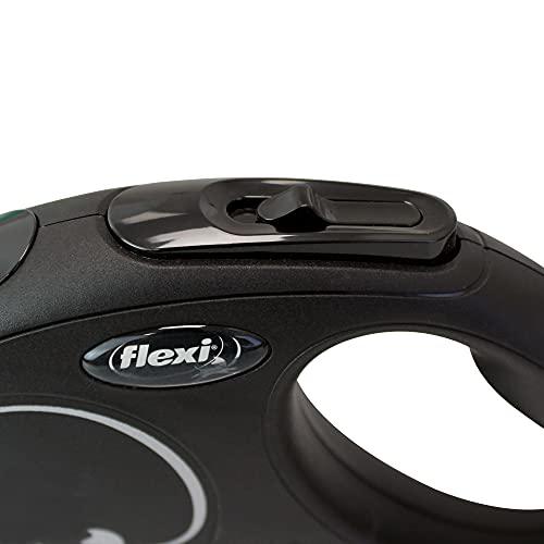 flexi Roll-Leine New Classic M Seil 5 m schwarz für Hunde bis max. 20 kg - 2