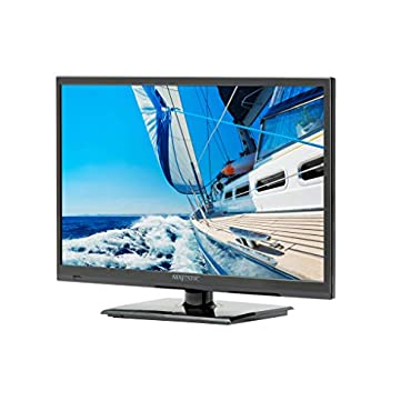 Majestic LED222GS 22 LED Full HD 12V TV with Built-In Global HD Tuners, DVD